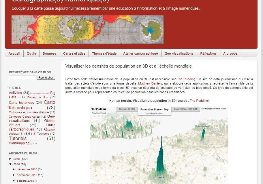Visualiser les densités de population en 3D et à l'échelle mondiale