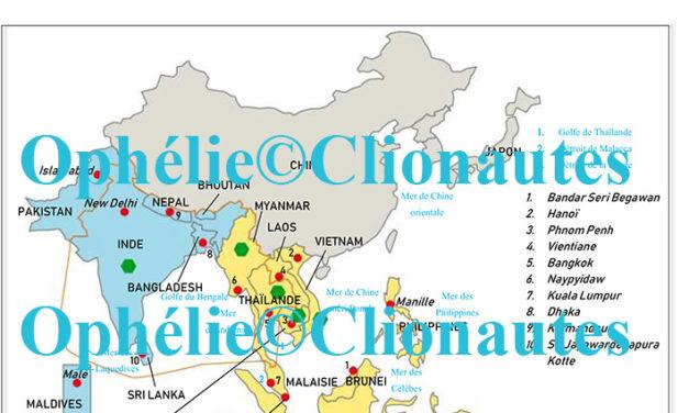 Croquis de localisation et de régionalisation en Asie du Sud-Est