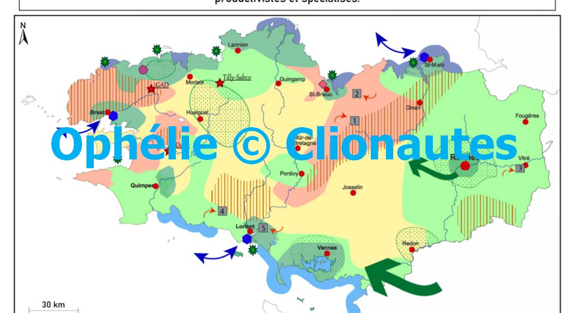 Croquis – Les espaces ruraux bretons structurés, dynamisés et fragilisés par des systèmes productifs agricoles productivistes et spécialisés (à copier)