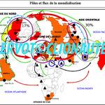 Croquis Pôles et flux de la mondialisation (Croquis Bac).